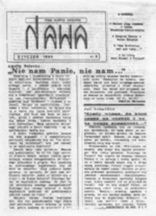 Nawa: pismo młodych katolików, nr 1 (listopad 1988)