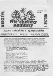 Nie chcemy komuny: pismo członków i sympatyków Konfederacji Polski Niepodległej, nr 13