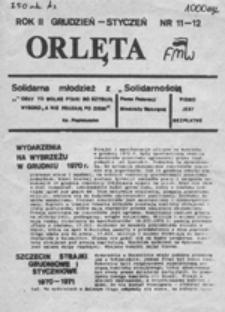 Orlęta: solidarność młodzieży z Solidarnością, nr 1 (1986.09.30)