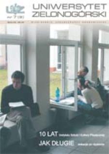 Uniwersytet Zielonogórski, 2002, nr 7 (lipiec)