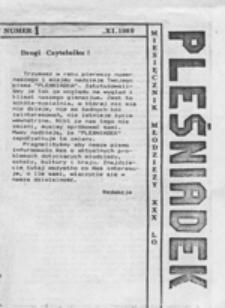 Pleśniadek: miesięcznik młodzieży XXX LO , nr 1 (XI.1989)