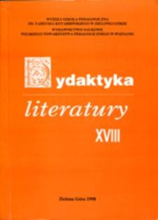 Dydaktyka Literatury, t. 18