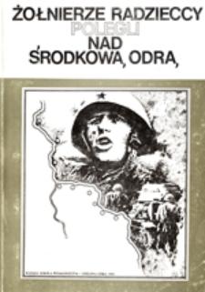 Żołnierze radzieccy polegli nad środkową Odrą