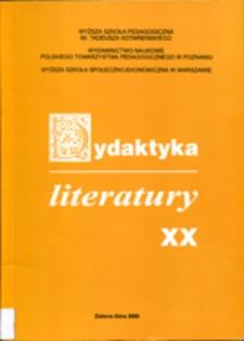 Dydaktyka Literatury, t. 20