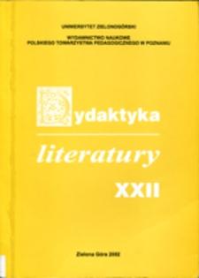 Dydaktyka Literatury, t. 22