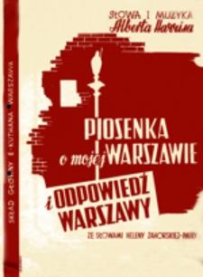 Piosenka o mojej Warszawie ; Odpowiedź Warszawy