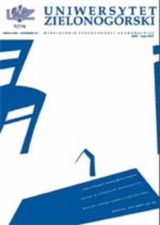 Uniwersytet Zielonogórski, 2003, nr 8 (październik)