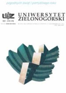 Uniwersytet Zielonogórski, 2003/2004, nr 10/1 (grudzień-styczeń)