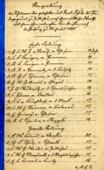 Rangordnung der sammtlichen Schuler des Zullichauischen Padagogiums nach ihrem sittlichen Werthe, und ihren schon erlangten Kenntnissen, zufolge der Herbstprufung im Jahre 1811