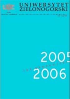 Uniwersytet Zielonogórski, 2005, nr 8 (październik)