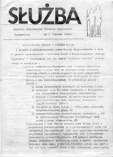 Służba: Biuletyn Informacyjny Polskiej Organizacji Harcerskiej, nr 3 (styczeń 1988 r.)