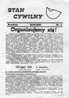 """Stan Cywilny: Pismo Garnizonu Krakowskiego Ruchu """"Wolność i Pokój"""", nr 6 (16.12.1988)"""