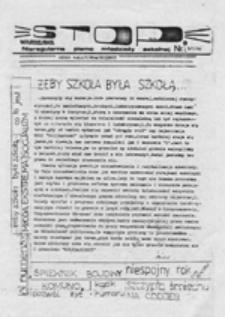 STOP: nieregularne pismo młodzieży szkolnej: numer specjalny, ulotkowy, nr 4 (4/4/89)