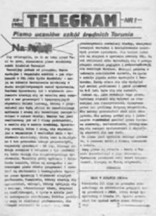 Telegram: pismo uczniów szkół średnich Torunia, nr 1 (XII 1988)