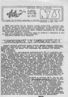 Tętno dwa: pismo NZS Akademii Medycznej w Lublinie, nr 1 (11.12.1988)