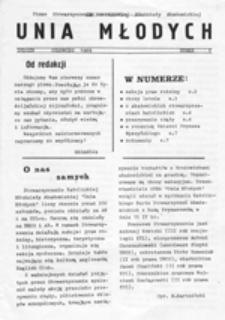 Unia Młodych: pismo Stowarzyszenia Katolickiej Młodzieży Akademickiej, nr 1 (czerwiec 1989)