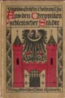 Aus den Chroniken schlesischen Städte