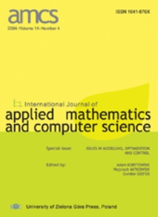 International Journal of Applied Mathematics and Computer Science (AMCS) 2004, volume 14, number 4