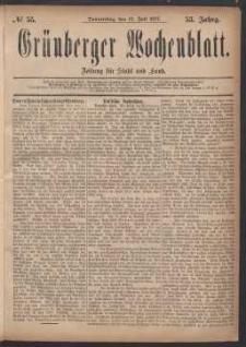 Grünberger Wochenblatt: Zeitung für Stadt und Land, No. 55. (12. Juli 1877)