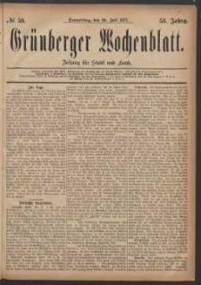 Grünberger Wochenblatt: Zeitung für Stadt und Land, No. 59. (26. Juli 1877)