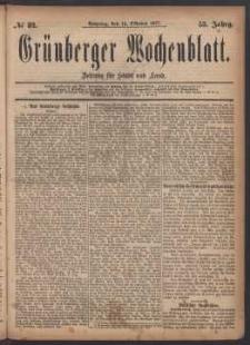 Grünberger Wochenblatt: Zeitung für Stadt und Land, No. 82. (14. Oktober 1877)