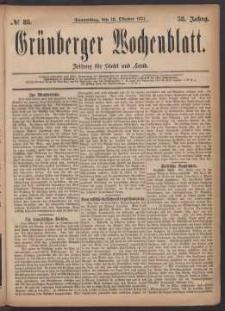 Grünberger Wochenblatt: Zeitung für Stadt und Land, No. 83. (18. Oktober 1877)