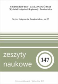 Zeszyty Naukowe Uniwersytetu Zielonogórskiego: Inżynieria Środowiska, Tom 27