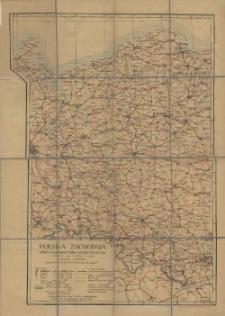 Polska Zachodnia : mapa komunikacyjno-administracyjna ze słownikiem nazw niemiecko-polskim