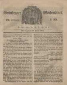Grünberger Wochenblatt, No. 33. (24. April 1848)