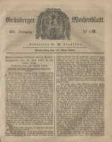 Grünberger Wochenblatt, No. 40. (18. Mai 1848)