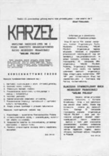 """Karzeł: pismo Komitetu Organizacyjnego Ruchu Młodzieży Prawicowej """"Wolna Polska"""", nr 1 (kwiecień 1990)"""