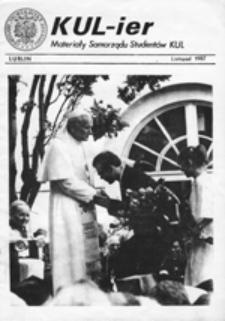 KUL-ier: zeszyt Niezależnego Zrzeszenia Studentów, nr 7 (wrzesień 1981 r.)