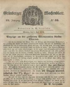 Grünberger Wochenblatt, No. 53. (3. Juli 1848)