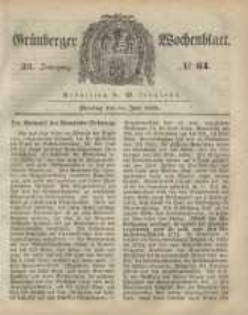 Grünberger Wochenblatt, No. 61. (31. Juli 1848)