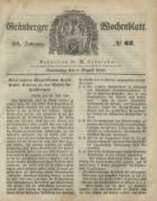 Grünberger Wochenblatt, No. 62. (3. August 1848)
