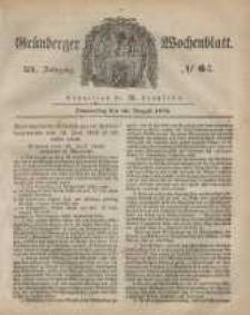 Grünberger Wochenblatt, No. 64. (10. August 1848)