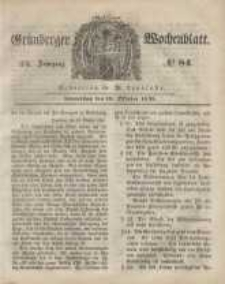 Grünberger Wochenblatt, No. 84. (19. Oktober 1848)