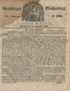 Grünberger Wochenblatt, No. 102. (11. Dezember 1848)