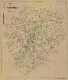 Plan der Stadt Grunberg / Schl.