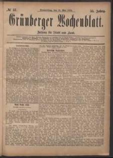 Grünberger Wochenblatt: Zeitung für Stadt und Land, No. 57. (15. Mai 1879)