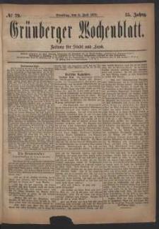 Grünberger Wochenblatt: Zeitung für Stadt und Land, No. 79. (8. Juli 1879)