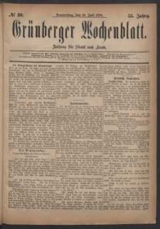 Grünberger Wochenblatt: Zeitung für Stadt und Land, No. 80. (. Juli 1879)