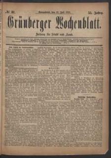 Grünberger Wochenblatt: Zeitung für Stadt und Land, No. 81. (12. Juli 1879)