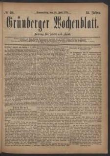 Grünberger Wochenblatt: Zeitung für Stadt und Land, No. 89. (31. Juli 1879)