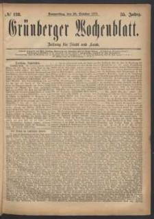 Grünberger Wochenblatt: Zeitung für Stadt und Land, No. 128. (30. October 1879)