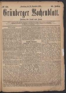 Grünberger Wochenblatt: Zeitung für Stadt und Land, No. 151. (23. Dezember 1879)