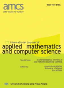 International Journal of Applied Mathematics and Computer Science (AMCS) 2003 Volume 13 Number 1