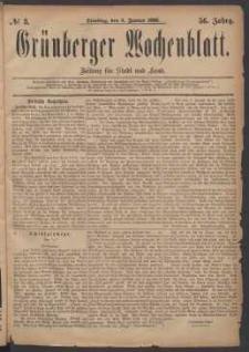 Grünberger Wochenblatt: Zeitung für Stadt und Land, No. 3. (6. Januar 1880)