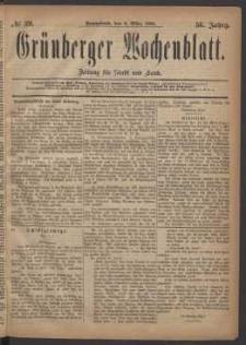 Grünberger Wochenblatt: Zeitung für Stadt und Land, No. 29. (6. März 1880)