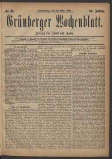 Grünberger Wochenblatt: Zeitung für Stadt und Land, No. 31. (11. März 1880)